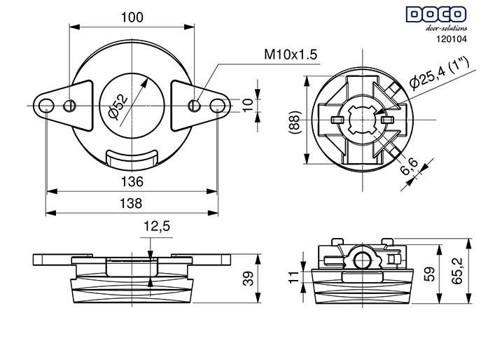 tete-ressort-diametre-95mm